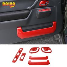цена на BAWA Interior Mouldings for Suzuki jimny 2007-2017 ABS Button Cover Door Handle Bowl Stickers for jimny Door Interior kit