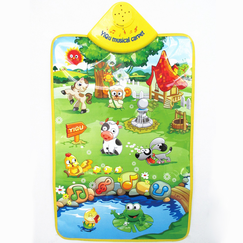 60*40CM Music Baby Mat Happy Farm Game Newborn Kid Children Touch Play Animal Sound Toy ...