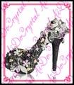 Aidocrystal последние туфли на каблуках для девочек женские насосы черный кристалл горный хрусталь цветок обувь