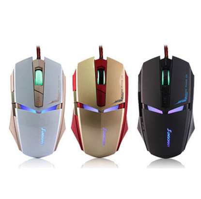 Zimoon Iron Man Design USB Wired Gaming Mouse 3D Professional Game Mice With Colorful LED Light For Dota 2 CS Desktop Laptop ...