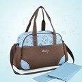 Con estilo tote bolsa de pañales bolsa de cochecito de bebé cambio de pañales bolsas de maternidad bolso de la madre del hombro mommy bag