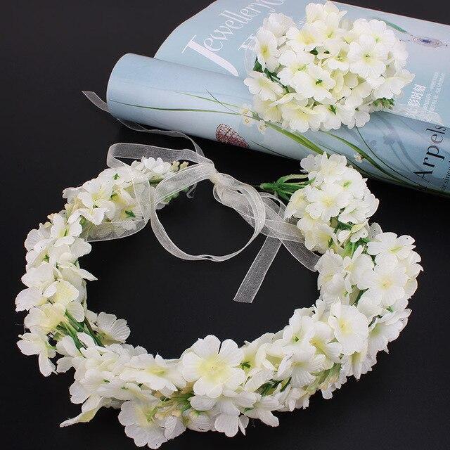 Neue Mode Braut Grosse Weisse Blumen Stirnband Hochzeit Madchen Floral