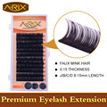 Wholesale 1 pack Eyelash Extension All Size 8-15mm length 0.15 False Mink Hair Individual Silk Lash