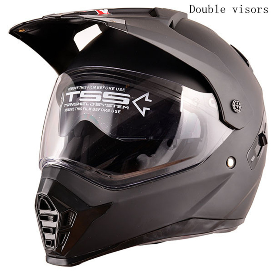 WANLI brands Pioneer motorcycle helmet with sun shield atv road cross motocross helmet double lens off road racing moto helmets