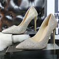 2017 han edition fashion big mouth sweet delicate elegant fine to popular shallow thin pointed diamond single shoes
