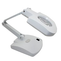 3X 8X 56LED Illuminated Plug In Two Purposes Handheld Desktop Magnifier With Light For Reading Working