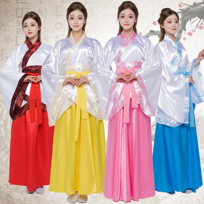 Attent Vrouwen Hanfu Traditionele Kostuums Tang Pak Vrouwen Satijnen Jurk Mannen Gown Set Lente Festival Prestaties Stadium Slijtage Cosplay Kleding Mild En Mellow