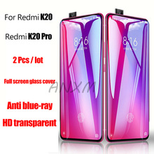 2Pcs/lot 9H Tempered Glass for Xiaomi Redmi K20 Pro Screen Protector Full Cover For Protective Film