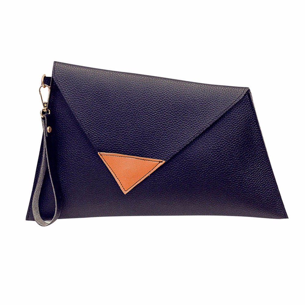 flama 2017 Vintage Designer Women Leather Handbag Clutch Evening Bag Simple Retro Envelope Package & Wholesale