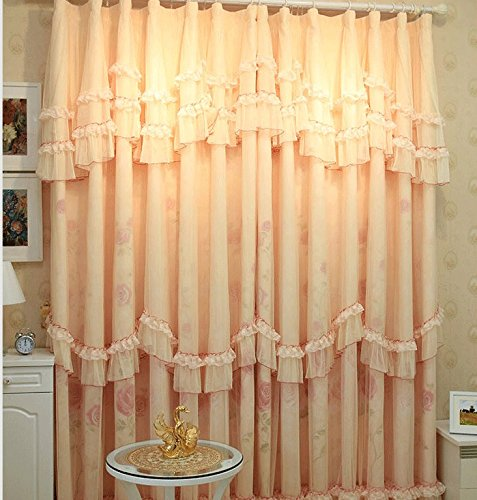 elegant pink rose print living room curtains romantic wedding