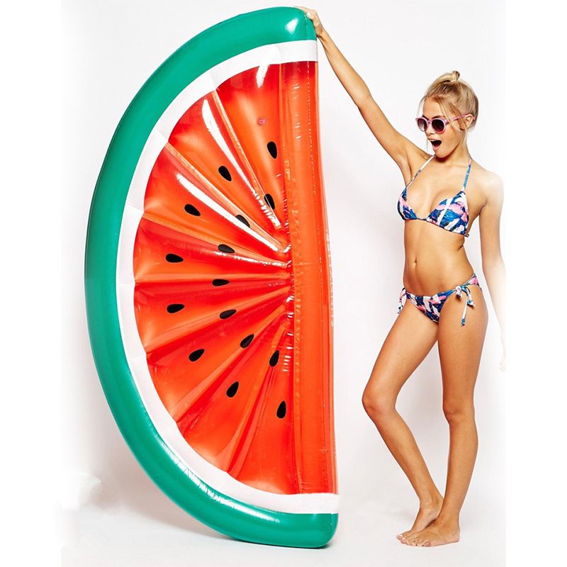 Giant Inflatable Watermelon Pool Floats Tube Raft Swimming Ring Circle Water Bed Inflatable Pool Raft Adults Party Toys