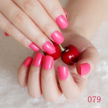 2016 Fashion Women candy false nails false nails short round tail tip watermelon red N079