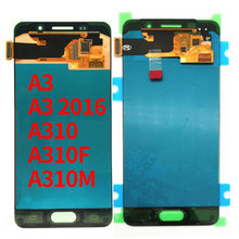 For SAMSUNG Galaxy A3 2016 A310 A310F SM-A310F LCD Display With Touch Screen Digitizer Assembly 100% Tested 4.7'' SUPER AMOLED(China)