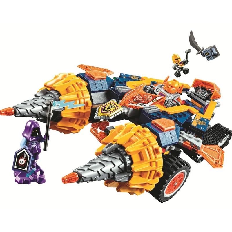 BELA Nexo Knights Axl's Rumble Maker Building Blocks Sets Kits Bricks Classic Model Kids Toys Marvel Compatible Legoings Nexus