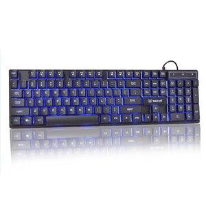 Image 4 - USB السلكية الألعاب لوحة المفاتيح 104 مفاتيح الروسية الإنجليزية تخطيط قوس قزح توهج لوحة المفاتيح للكمبيوتر المحمول سطح المكتب