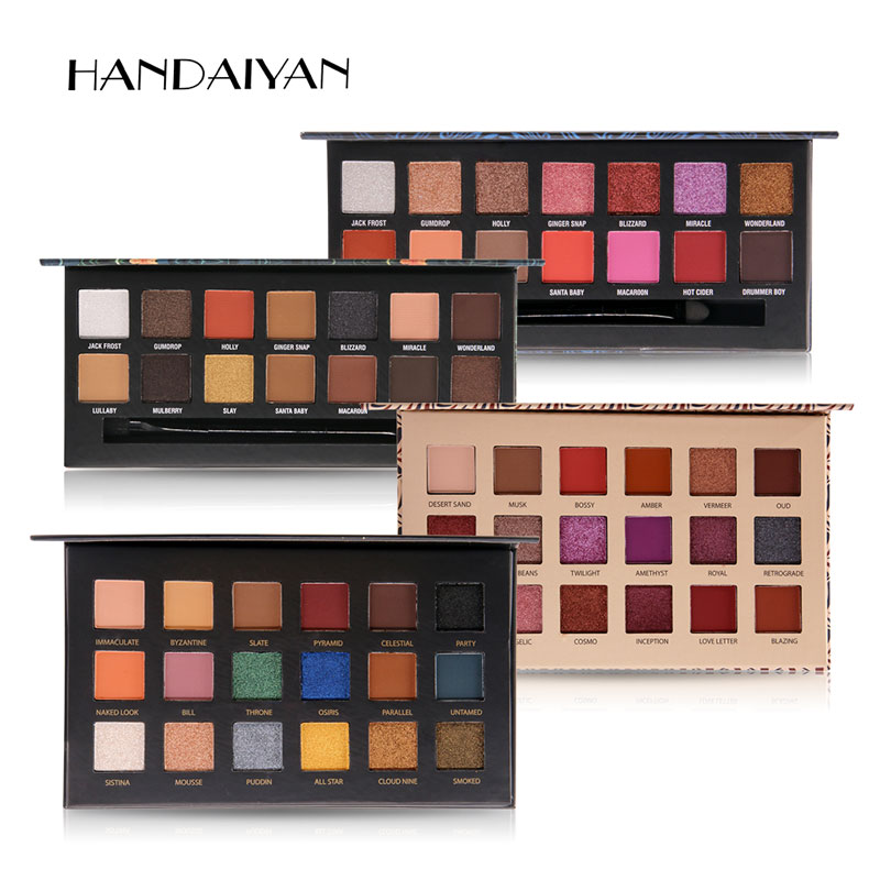 HANDAIYAN 14-18 Colors Eyeshadow Palette Smoky Cosmetics Matte Glitter Shimmer Eye Shadow Makeup Palette  Eyeshadow Palette women newthe balm california and colour that 9 colour cosmetics makeup eyeshadow palette paleta de sombra eye shadow