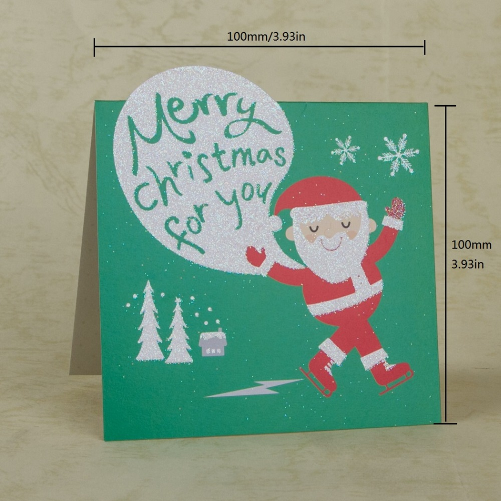 Christmas Greeting Cards Handmade.Christmas Greeting Cards Handmade Cartoon Santa Claus Merry
