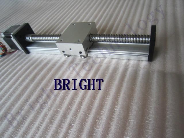 12mm linear guide rail SGK 1204 ballscrew effective stroke 500mm linear guide linear rails cnc+23 nema 57 stepper motor SKG