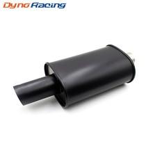 Универсальный выхлоп автомобиля Стайлинг двойной кабельный ввод для стен 63 мм сгоревший черный глушитель автомобиля выхлоп гоночный глушитель трубы