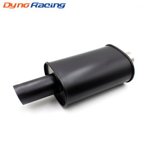 Universal Exhaust car styling Double wall inlet 63mm Burned Black Silencer exhaust racing muffler Pipes  YC101040-BK