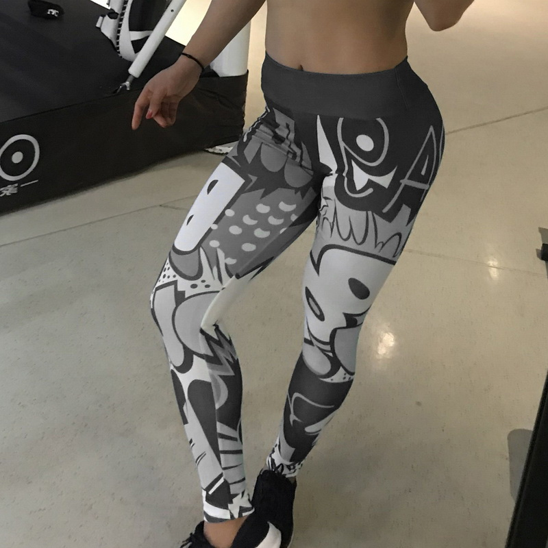 8 colors New Fitness Sport leggings Women Mesh Print High Waist Legins Femme Girls Workout Yoga Pants Push Up Elastic Slim Pants 67