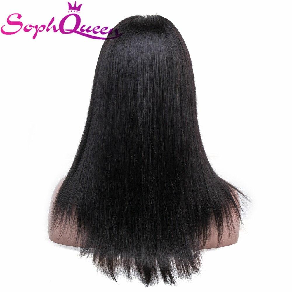 100% QualitäT Gerade Spitze Vorne Menschenhaar Perücken Peruanische Remy Haar 4*4 Spitze Vorne Perücke Pre Gezupft Menschliches Haar Perücken Für Schwarze Frauen Soph Königin