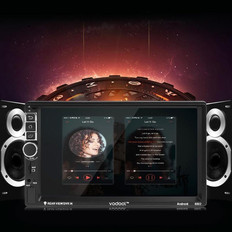 VODOOL 7 Сенсорный экран 2Din 4 ядра Android 7,1 Bluetooth, Wi-Fi 1080 P автомобиля gps навигатор свободная рука MP5 Музыка Аудио видео плеер