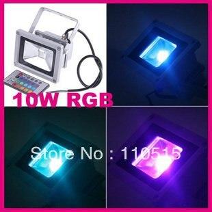 Wholesale - 10W Waterproof Floodlight Landscape Lamp RGB LED Flood Light Outdoor LED Flood Lamp Free Shipping