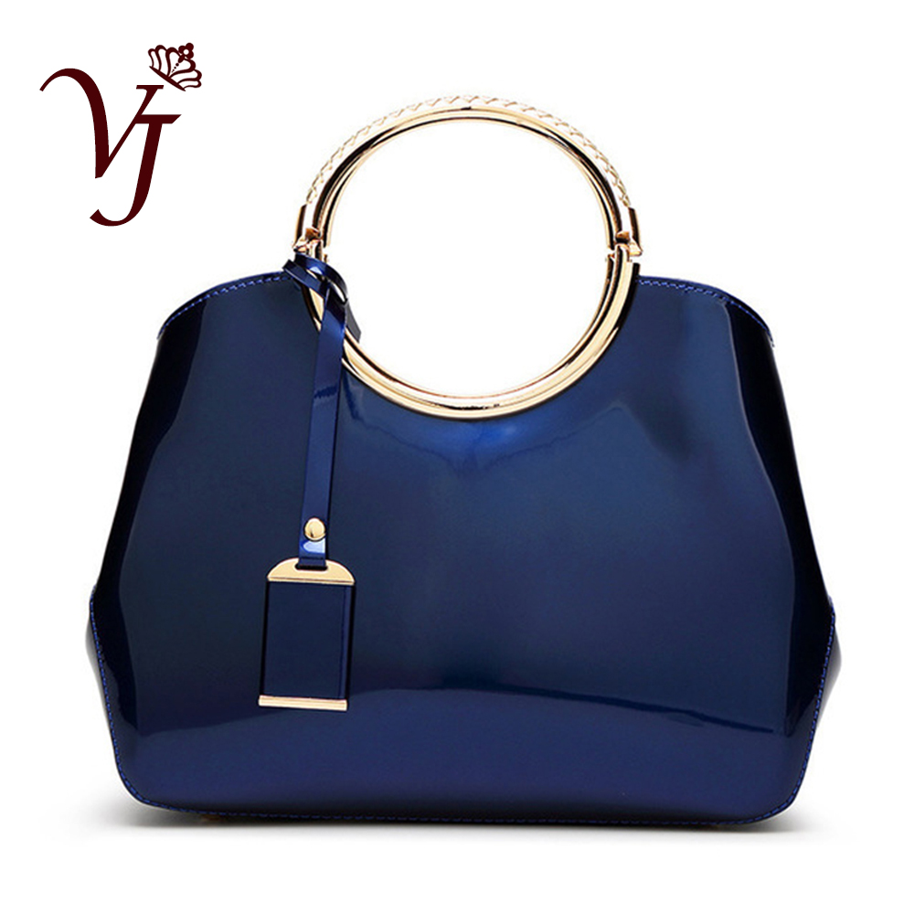 High Quality shining Patent Leather luxury tote handbag for Women Ladies' sexy messenger bag female delicate Noble Shoulder Bags