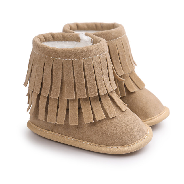 f10f640449adf Haute qualité frange bébé hiver bottes infantile enfant en bas âge  chaussures chaudes coton chaussures bottines