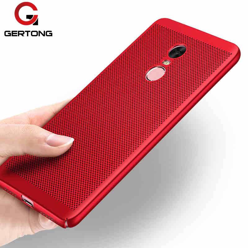 GerTong Heat Dissipation Case For Xiaomi Mi A1 Mi6 Mi5X Mi5 Mi5S Mi5C For Redmi 4X 4A Note 5A Prime 3 3S Y1 Hard PC Back Cover