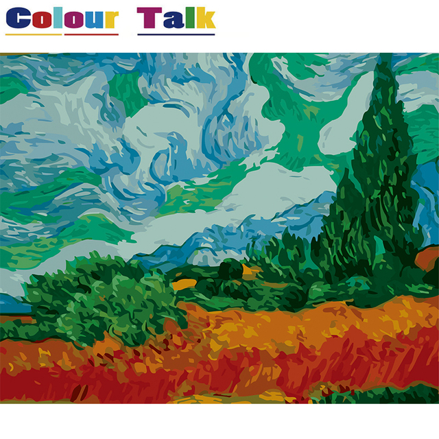 Oil Painting by Numbers Drawing Coloring by Numbers DIY Oil Painting ...