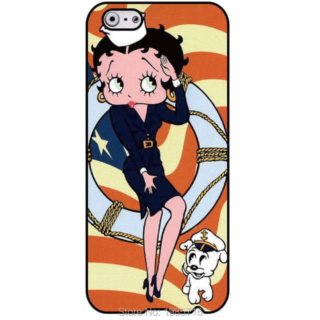Betty Boop Wallpaper Fashion Original Cell Phone Housing Cover For