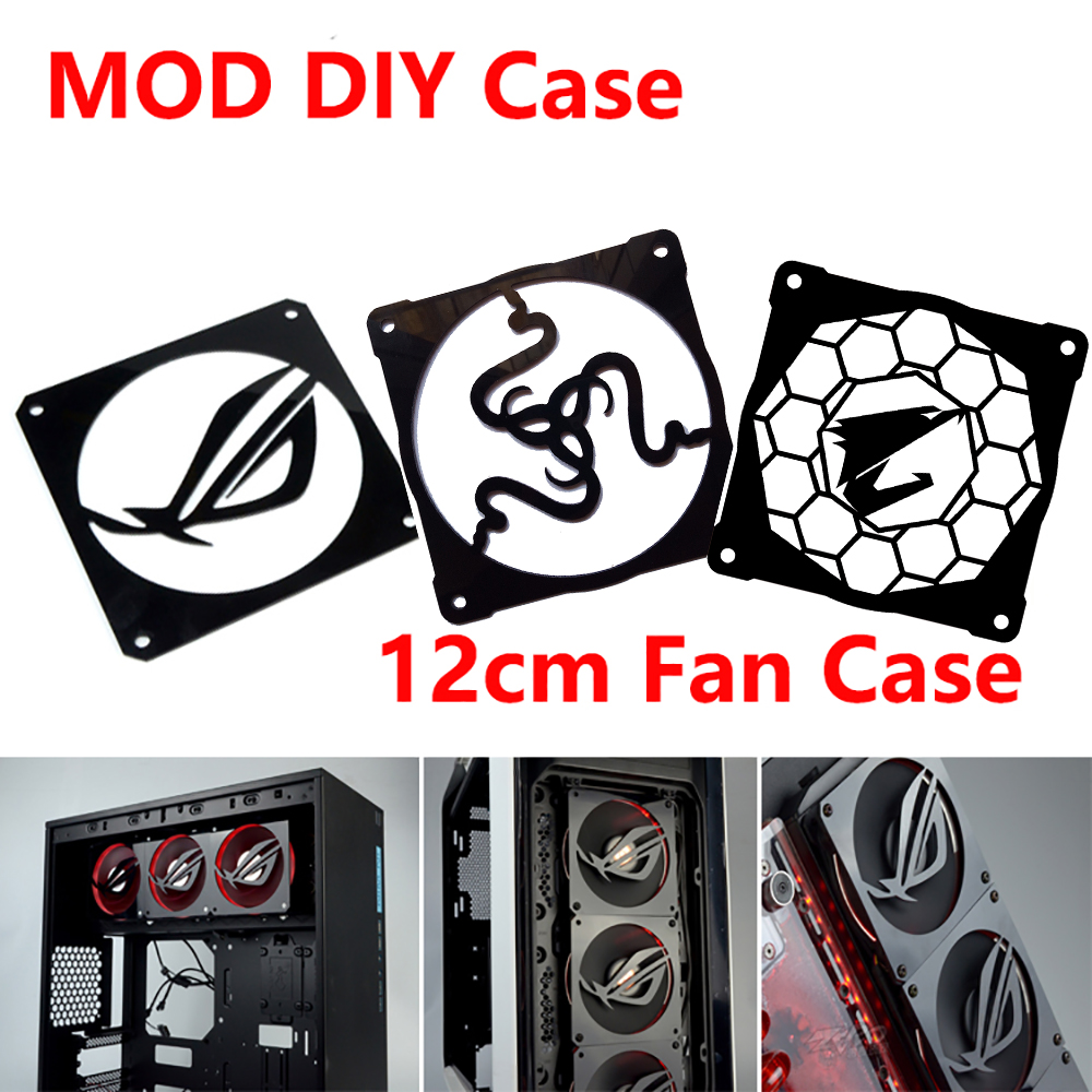 MOD DIY 12cm X 12cm Fan Cover Radiator Decorative Cover Water Cooling Accessories Liquid Cooler System use for 12cm Fans computador cooling fan replacement for msi twin frozr ii r7770 hd 7770 n460 n560 gtx graphics video card fans pld08010s12hh