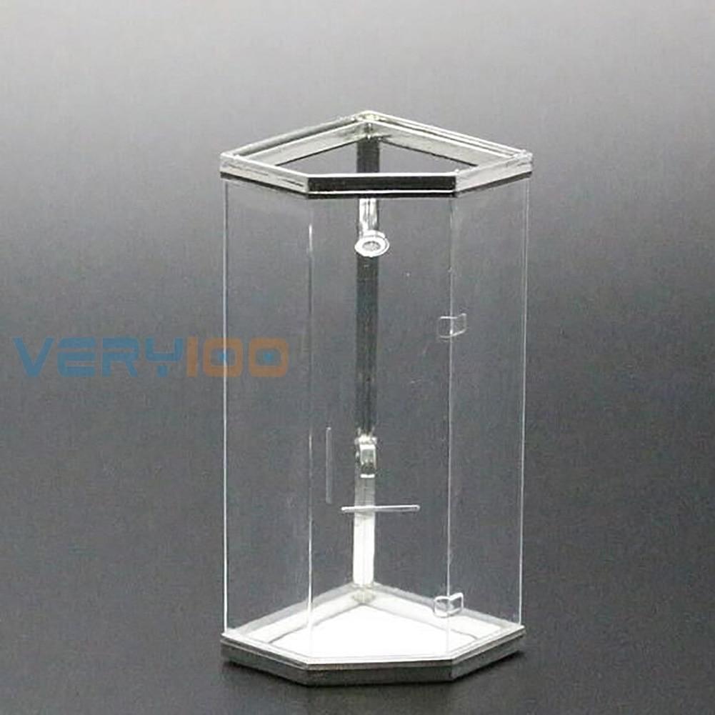 5 Pcs 1:25 Scale White Unpainted Shower Bath Room House Miniature Furniture