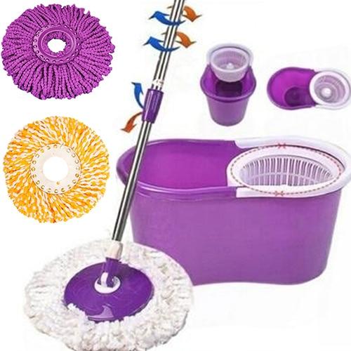 Hot Useful 360 Rotating Head Easy Magic Microfiber Spinning Floor Mop Bucket Head