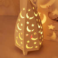 European iron WHITE romantic candlestick night light Star Candlestick ornaments hollow Christmas decoration lamps Z17119