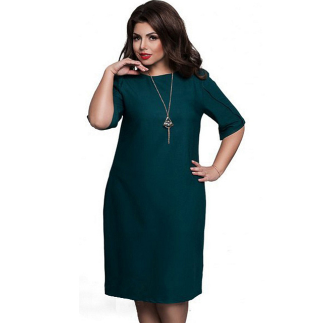 3XL 4XL 5XL 6XL plus size Women office party dress 2018 summer casual big  size loose elegant high quality large size Clothes hot 6a3a52ea1c49