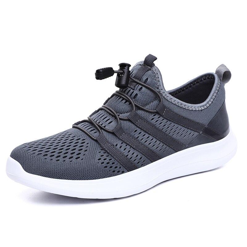 light Sapatos Ao 2019 Andando Respirável Para Verão De Tenis cinza Moda Escuro Homens Livre Casuais Ar Calçados Masculinos Malha Preto Up Lace 5j7902 Adultos gray Sneakers nqwWUB8qrp