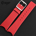 21mm Genuine Leather Watch Band High Quality Thin White red black brown Watch Strap Case For CK Calvin Klein Free Shipping