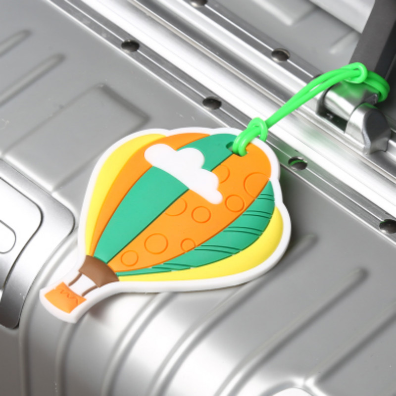 Silicone Luggage Tag Cartoon Cute Balloon Suitcase Tags Name Address Holder Baggage Boarding Label