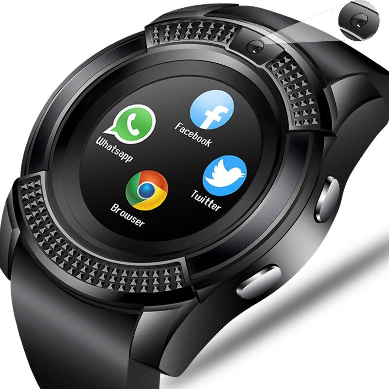 WISHDOIT Hommes Femmes Montre Smart Watch Montre-Bracelet de Soutien Avec La Caméra Bluetooth SIM TF Carte Smartwatch Pour Android Téléphone Couple Montre