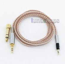 6.5mm 3.5mm 16 Noyaux OCC Argent Plaqué Mixte Casque Câble Pour Senheiser HD598 HD558 HD518 Sur-Oreille LN005813