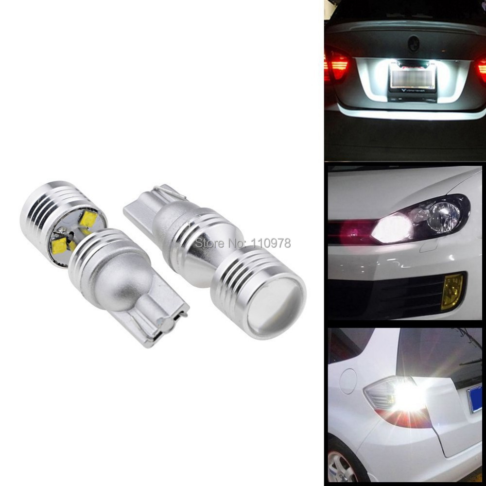 Free Shipping 2x High Power No Error Canbus 30W Optical Projector White T10/T15 CREE Chips LED Backup Reverse Light Bulbs ruiandsion 2x75w 900lm 15smd xbd chips red error free 1156 ba15s p21w led backup revers light canbus 12 24vdc