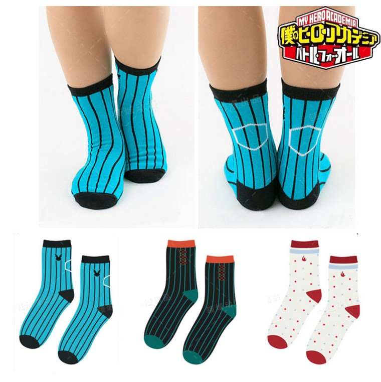 Anime My Hero Academia Cosplay Men Fashion Women Boku no Hero Academia Cotton Stockings 3 Pairs  Short Tube Socks