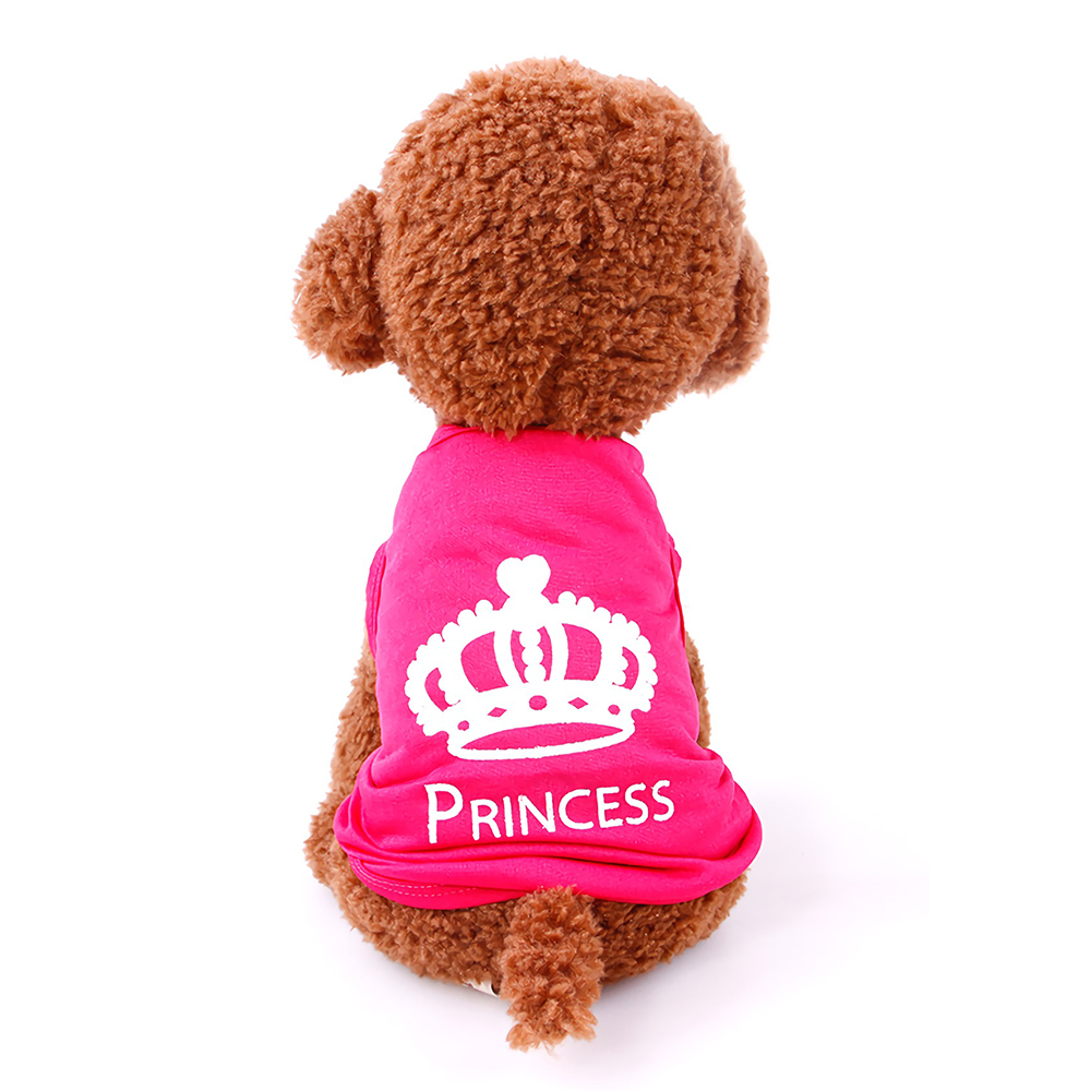 Summer Pets Vest Shirt Goods For Dogs Crown Small Dog Casual Clothes Teddy Puppy Cat Coat Costumes XS-L Apparel DOGGYZSTYLE