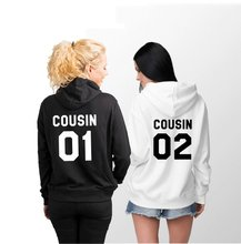 Sugarbaby Cousin 01 Cousin 02 Hoodies Matching Family Hoodies Gift for Cousin Long Sleeve Casual Hoodie High quality Tops wade mary hazelton blanchard our little cuban cousin