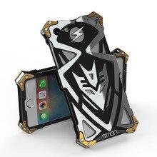 Zimon Marque d'origine Thor Luxe Robuste Armure En Métal En Aluminium Mobile téléphone Sacs Cas pour Apple iPhone 7 7 Plus 6 6 S plus couverture