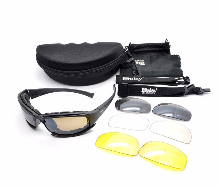 Cheapest Daisy X7 Glasses Military Goggles Bullet-proof Army Sunglasses With 4 Lens Original Box Men Shooting Eyewear Gafas