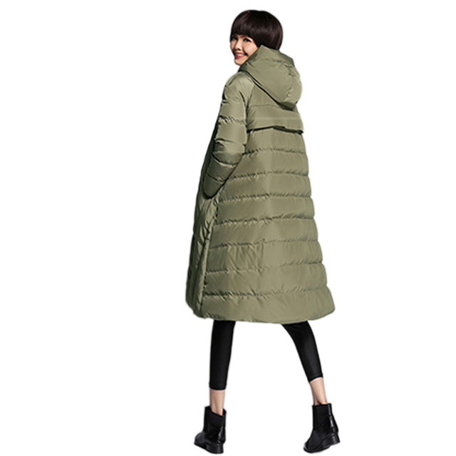 2019 Winter women 's fashion 90% white duck down jacket solid color casual women' s down jacket long large size Girl warm parkas 2